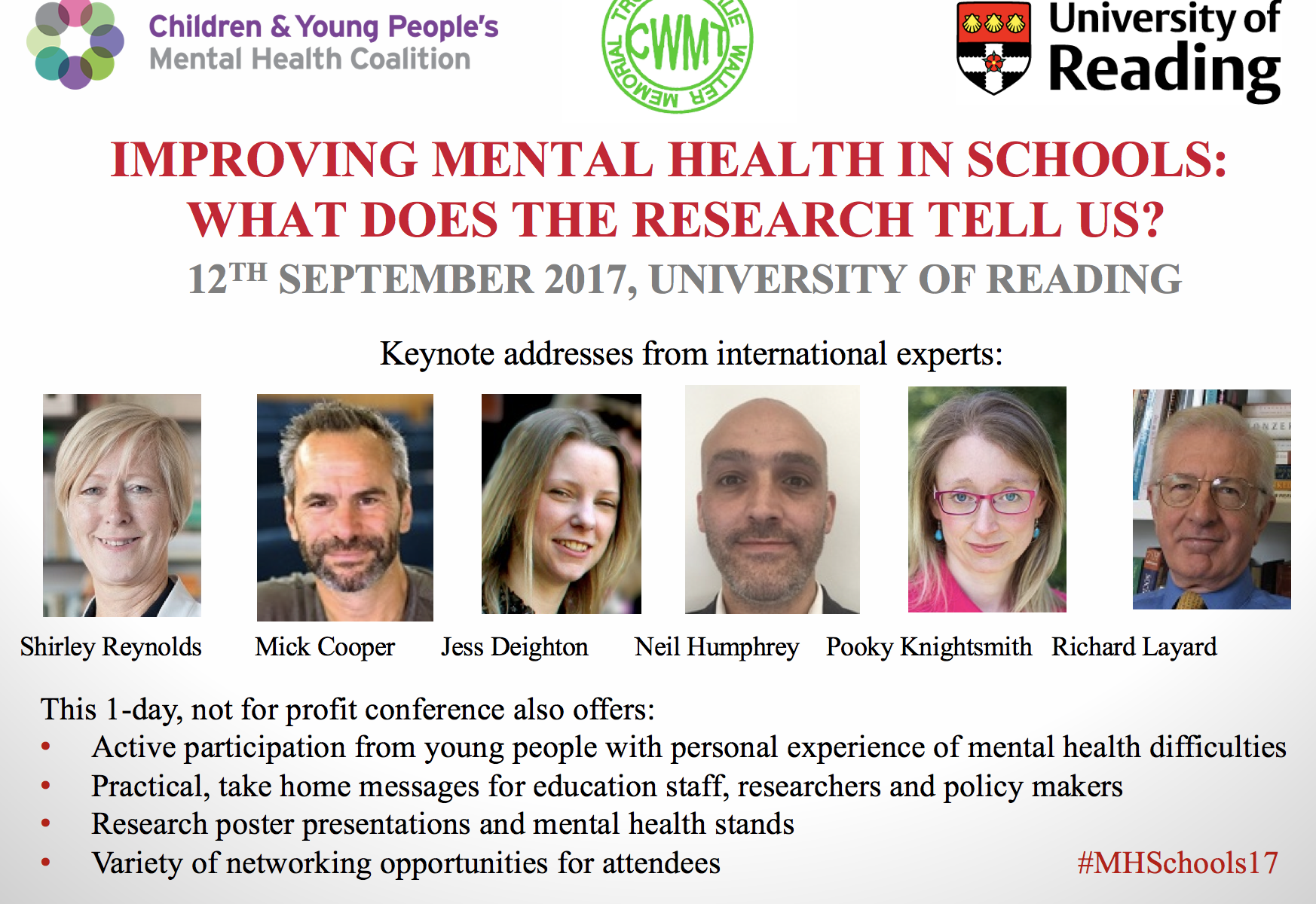#MHschools17 Mental health in schools, Reading, Sep 2017